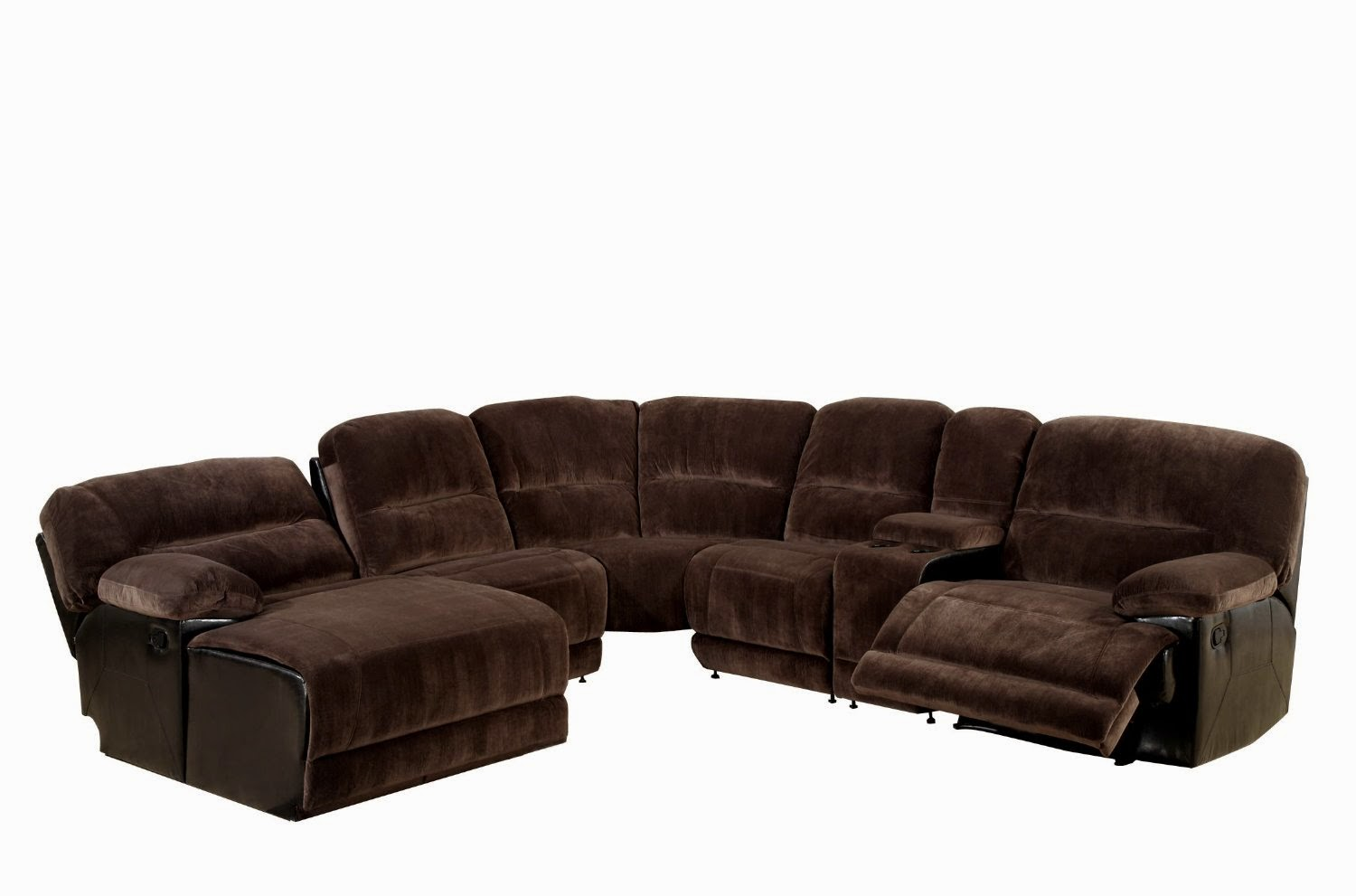 Reclining sofas for sale cheap saddle microfiber for Sectional sofas with 4 recliners