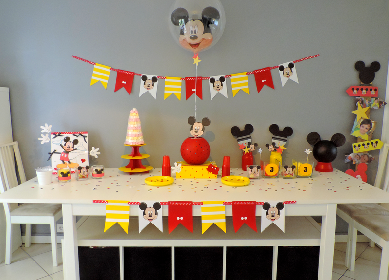decoration anniversaire mickey. Black Bedroom Furniture Sets. Home Design Ideas