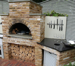 artificial brick barbecue