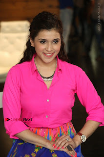 Actress Mannar Chopra in Pink Top and Blue Skirt at Rogue movie Interview  0205.JPG