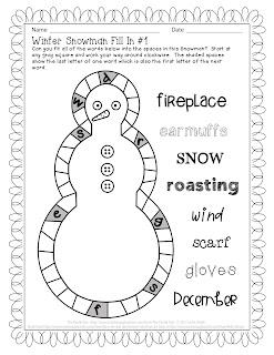 The Puzzle Den - Winter Snowman #1 - Easy Version