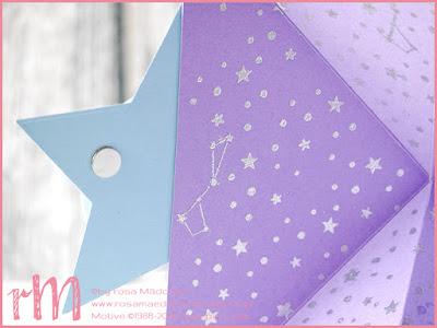 Stampin' Up! rosa Mädchen Kulmbach: Fun Fold Card mit Sternstunden