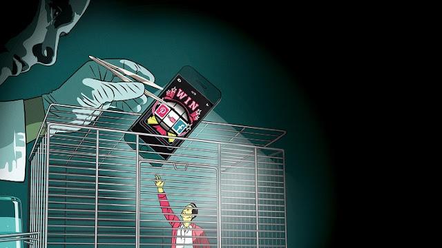 典型影射 Skinner 該為手機上癮設計的配圖