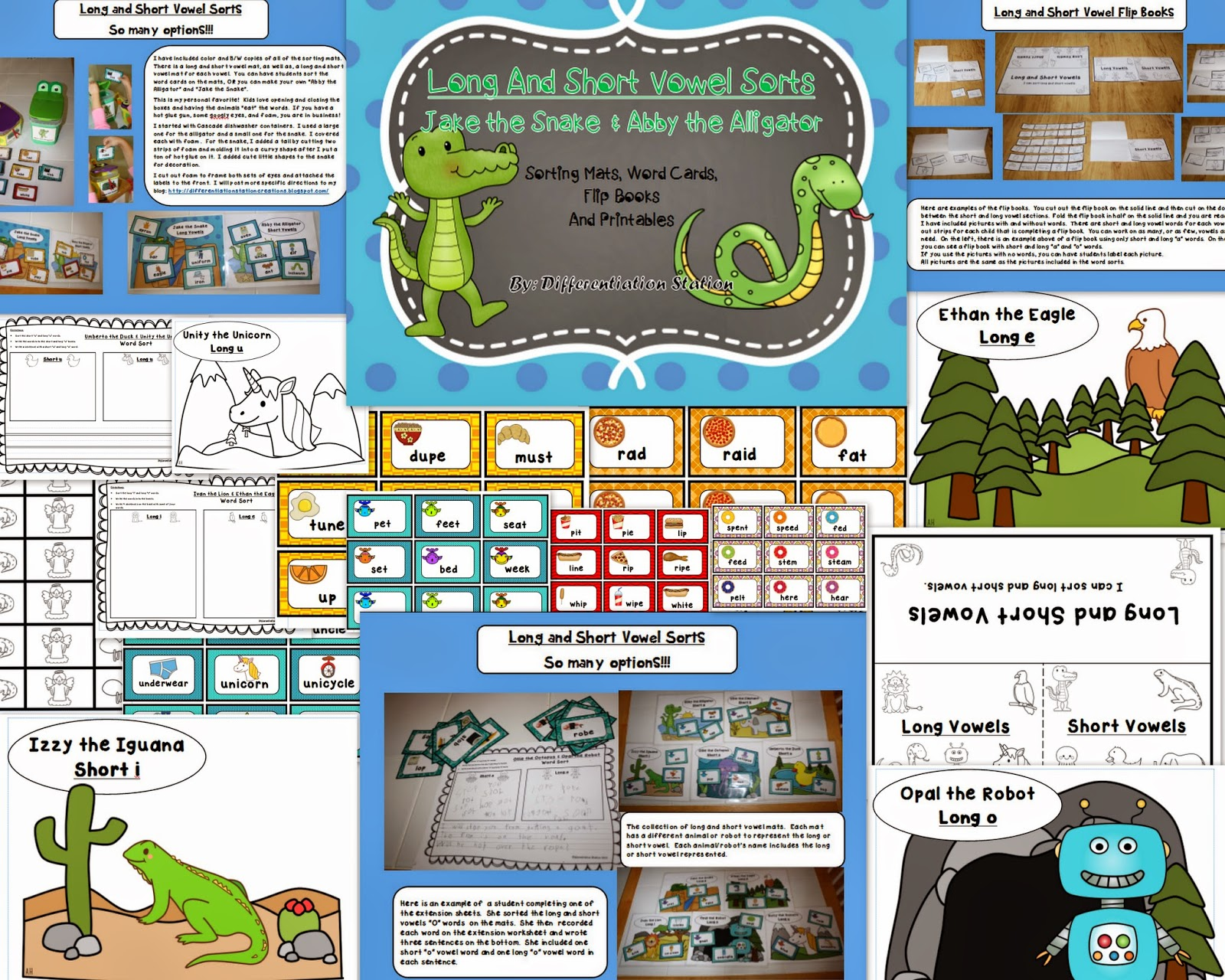 http://www.teacherspayteachers.com/Product/Long-and-Short-Vowel-Sorts-Sorting-Mats-Word-Cards-Flip-Books-and-Printables-1026814