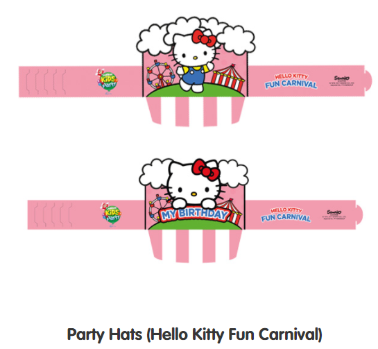 Party hats for Jollibee Party Theme - Hello Kitty Fun Carnival