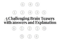 5 Challenging Brain Teasers For Adults With answers and Explanation