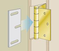 shim for door hinge
