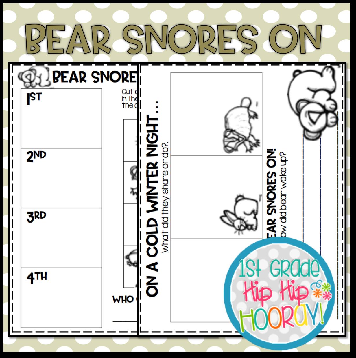 1st Grade Hip Hip Hooray Bear Snores On Eebie