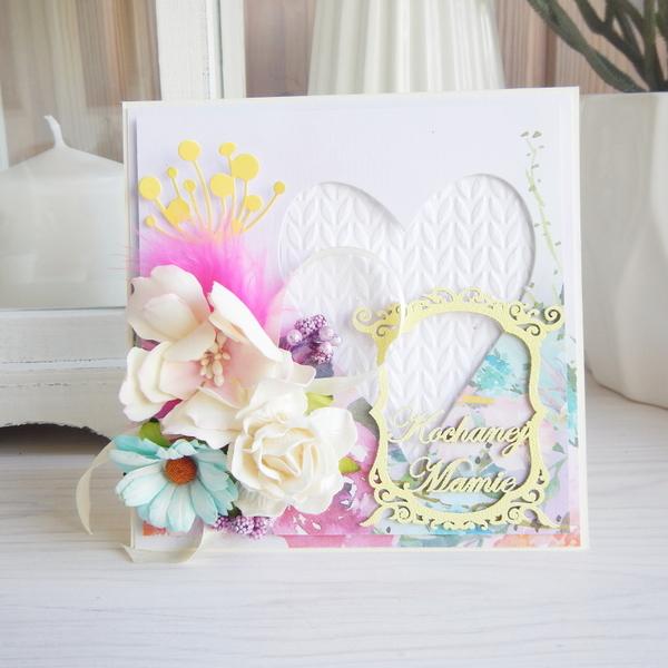 Kartka z kwiatami na Dzień Mamy