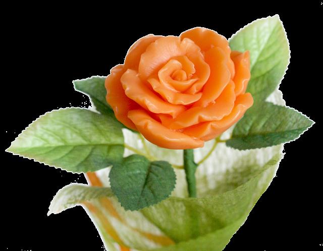 kwiat róża z mydełka bukiet prezent