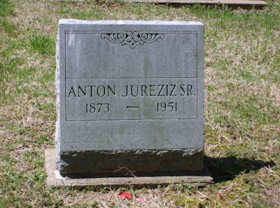 gravestone of Anton Jureziz Sr in Mascoutah Illinois cemetary