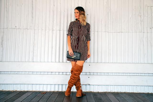 shirt dress boots style