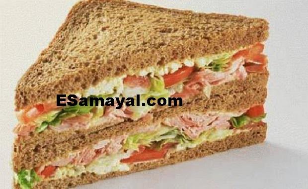 கோதுமைபிரெட்ரவாசாண்ட்விச் எப்படிச் செய்வது? / How Make Wheat Fried Rava Sandwich?