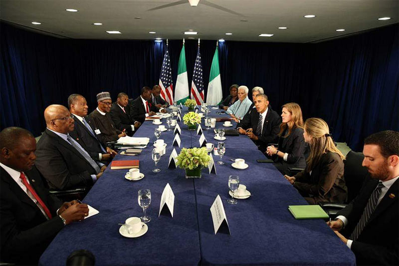 I'll solve problem in the Niger Delta - Buhari tells Obama in New York meeting