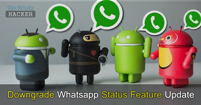 How To Downgrade The Whatsapp Latest Status Feature Update
