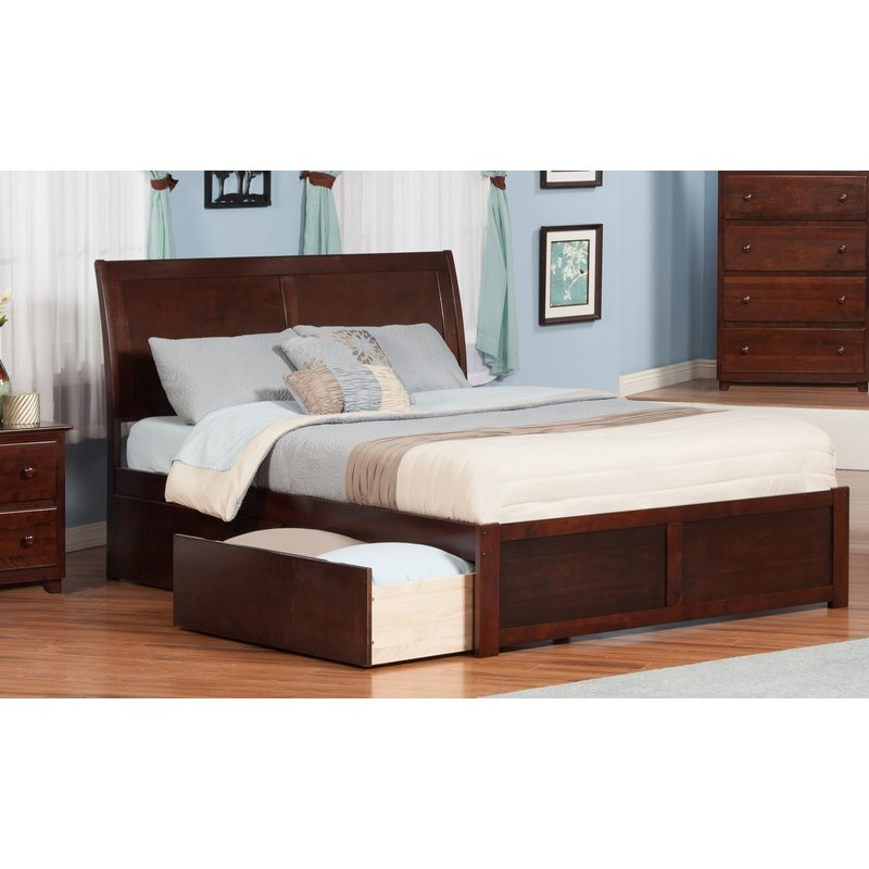 60 incredible queen sized beds with storage drawers - Platform bed with storage underneath ...