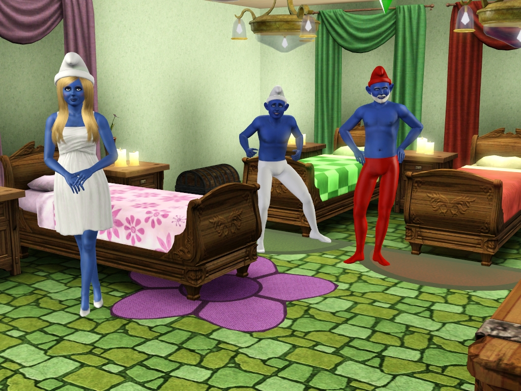 sims 3 news and more: 3 Smurfs Sims and a Smurf House Lot