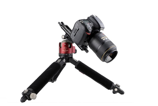 Nikon DSLR with macro lens on MFR-150S mounted on XB-52 and T1A20 Tripod