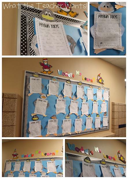 Classroom Bulletin Board Penguins