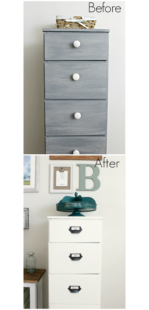 before and afters of painted cabinet