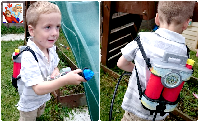 Fire Hose super soaking backpack water gun