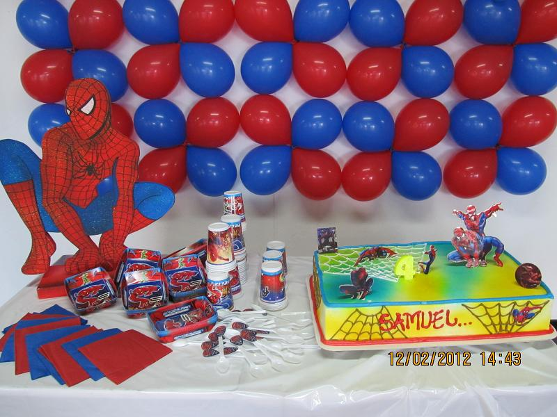 Decoracion hombre ara a spiderman fiestas infantiles y for Decoracion de i