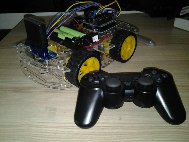 โปรเจค รถบังคับ Arduino ด้วย Wireless Joystick PS2