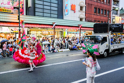 Porta bandeira at the 35th Asakusa Samba Carnival, Tokyo, Japan, 2016.