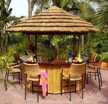 Bamboo Tiki Bar Bamboo Valance Photo