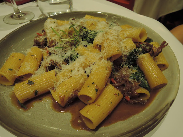 goat ragu and rigatoni