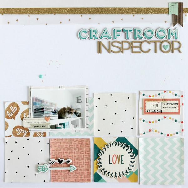 Craftroom Inspector | Scrapbooking Layout | Mein kreatives Jahr 2015