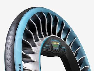 Goodyear revela el concepto de un neumático que se dobla como una hélice