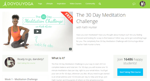 30-day meditation challenge by Yoga instructor Faith Hunter