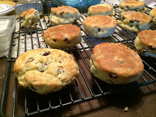 Photo of freshly baked scones on a cooling rack