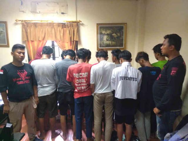 Polsek Tambora Tangkap 13 Pelaku Tawuran, 3 Positif Narkoba