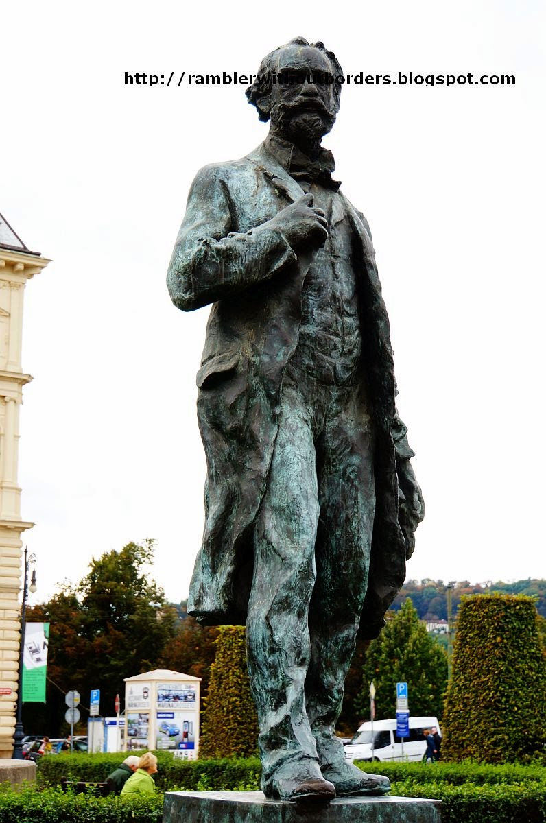 The statue of Antonín Dvořák, Prague, Czech Republic