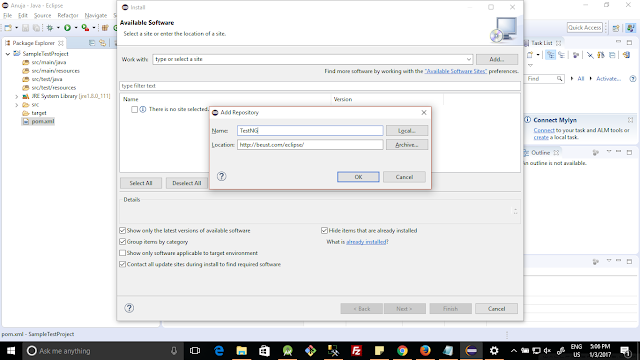 Installa TestNG in eclipse