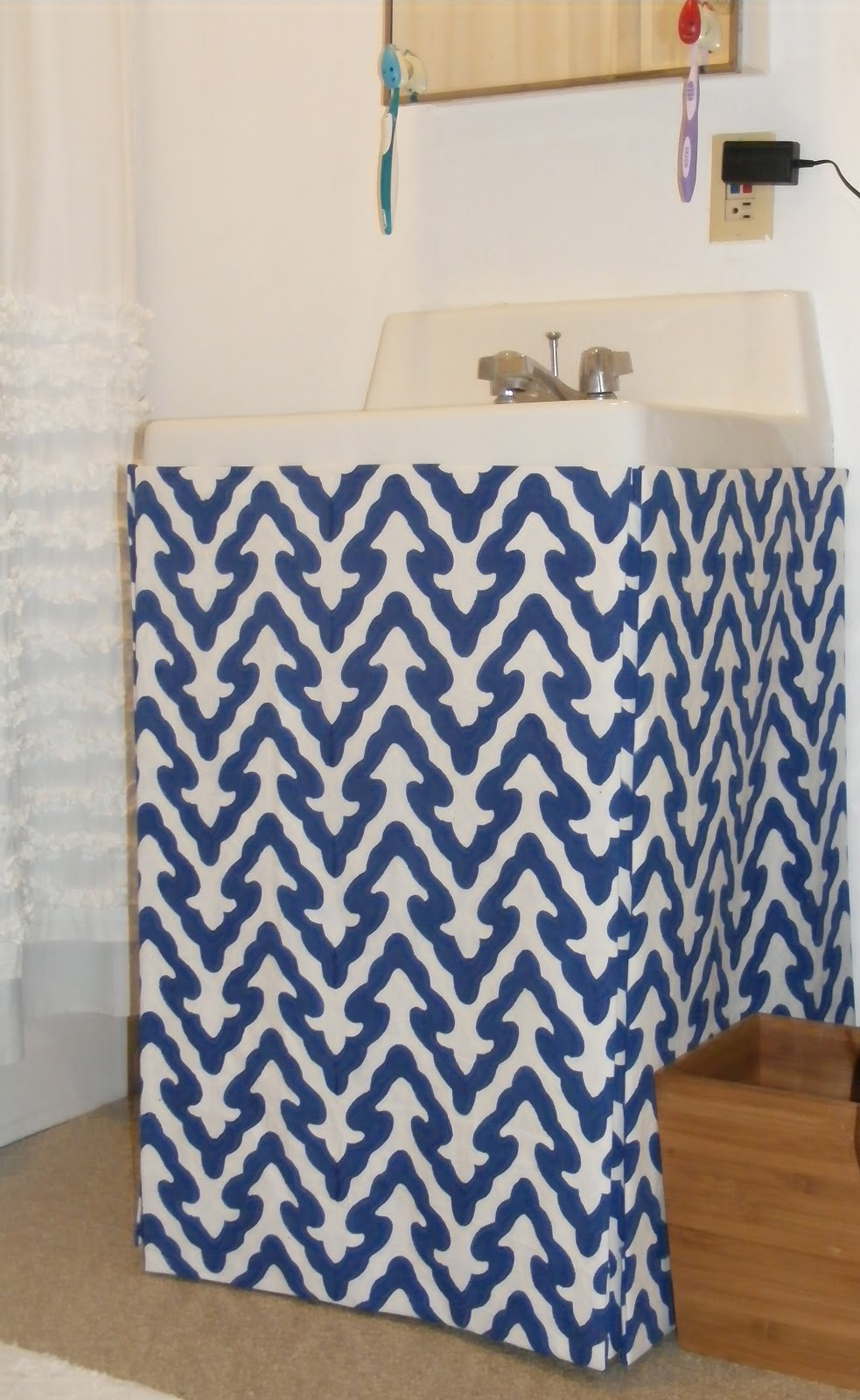 No Sew Sink Skirt Revisited