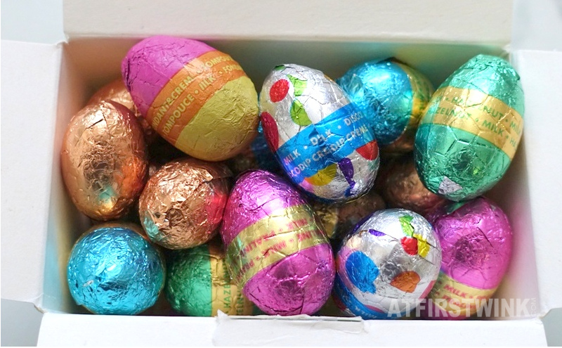 HEMA chocolate easter eggs new flavors paaseitjes metallic foil colorful