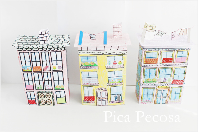 tutorial-como-hacer-casa-muñecas-con-carton-reciclado-packs-yogures-diy-tres-casas