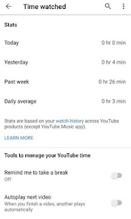 how to see times watching youtube videos