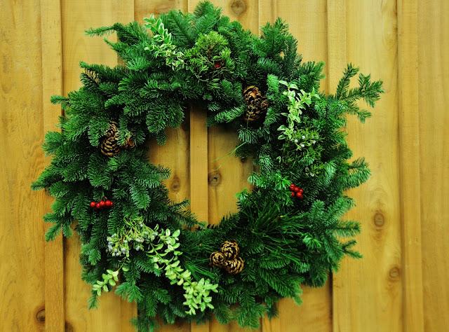 Christmas Wreath mixed greens