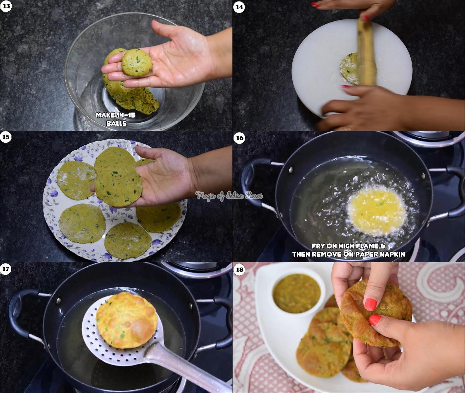 Bajra Methi Poori Recipe - सुभे के नाश्ते के लिए स्वादिष्ट बाजरा मेथी पूरी - Priya R - Magic of Indian Rasoi