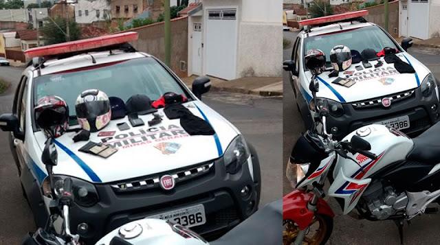 PM de Andradas evita provável assalto ao deter pinhalenses suspeitos em motocicleta
