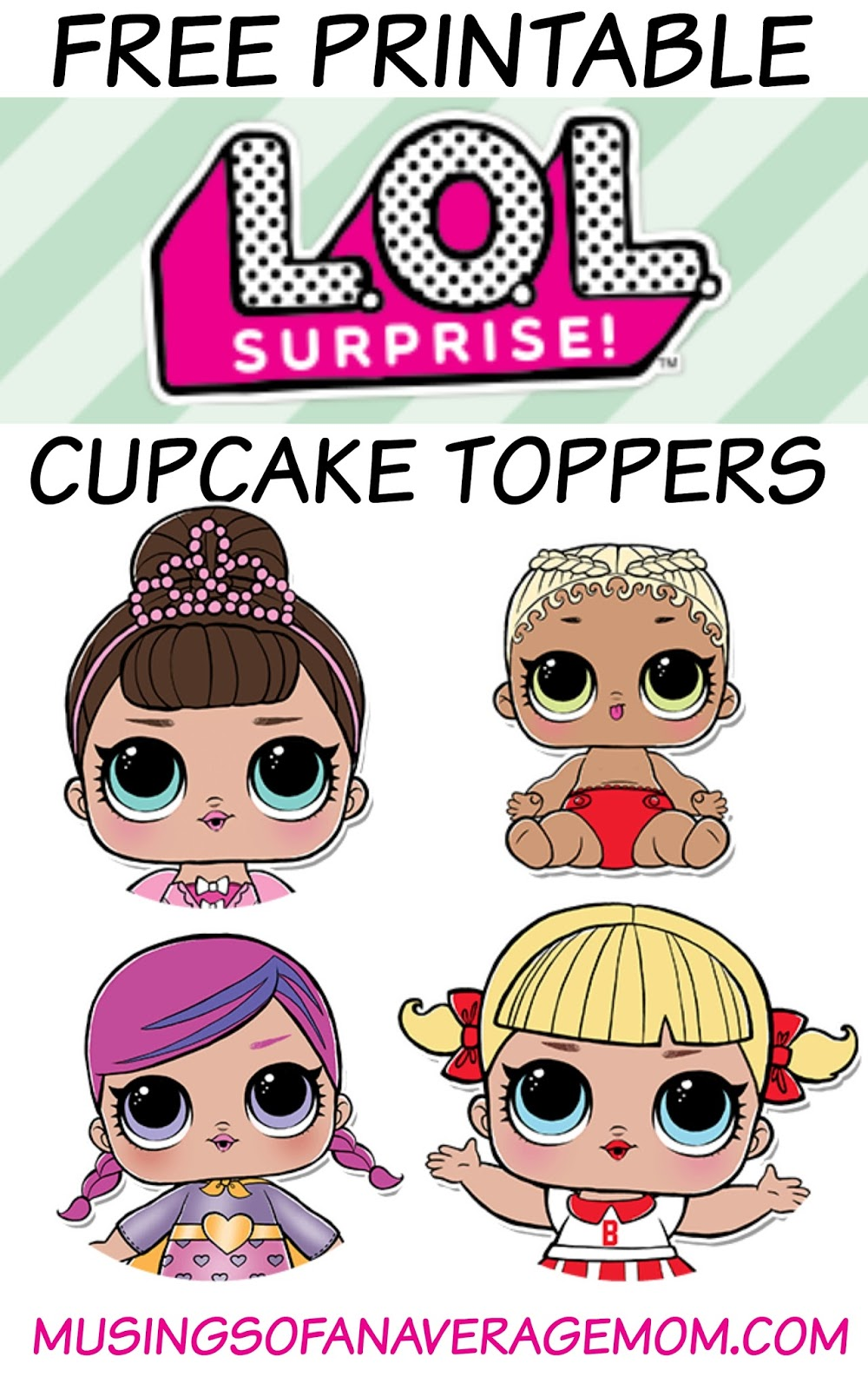 Musings of an Average Mom: L.O.L. surprise cupcake toppers