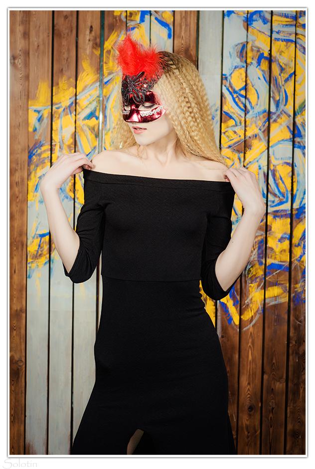 девушка в маске, фотосессия в Тамбове