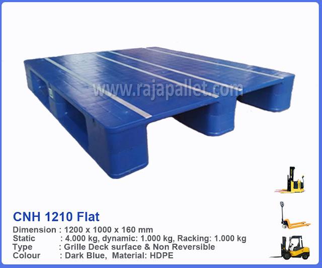 Pallet Plastik Hygiene Duty CNH 1210 Flat