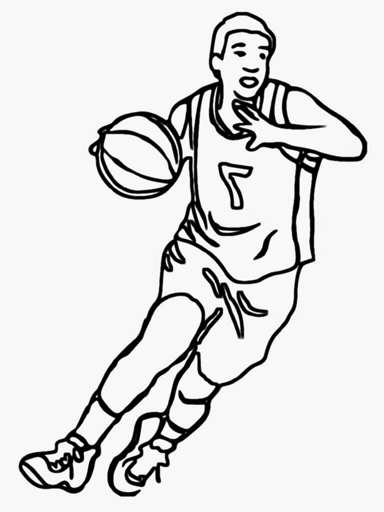 Basketball Player Coloring Basketball Player Coloring Page