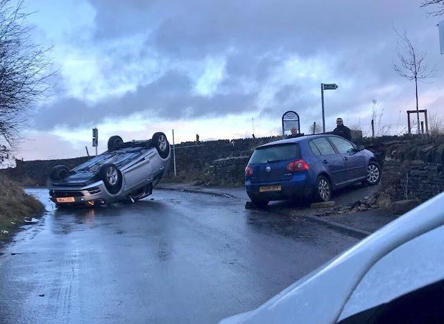 Warning of black ice causing chaos across Bradford