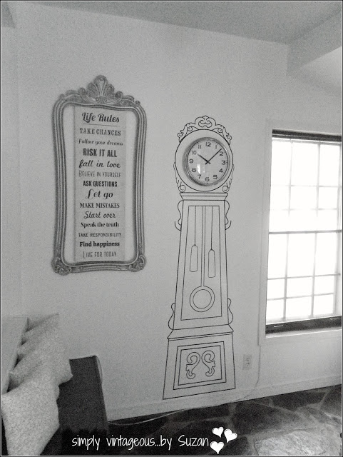 Grandfather Clock Wall Decal